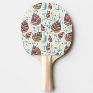 Floral pattern 5 2 ping pong paddle