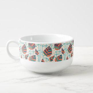 Floral pattern 5 2 soup mug