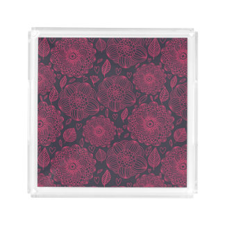 Floral Pattern 5 Acrylic Tray