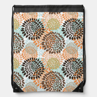 Floral Pattern 5 Drawstring Bag