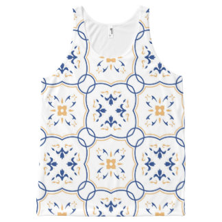 Floral Pattern 6 All-Over Print Tank Top
