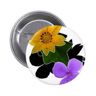 Floral Pattern 6 Cm Round Badge