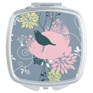 Floral Pattern 6 Compact Mirrors