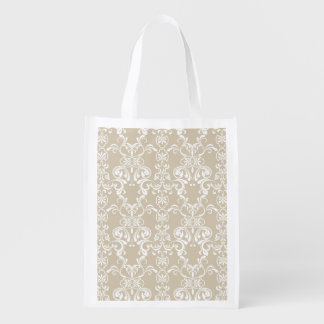 Floral Pattern 6 Reusable Grocery Bag