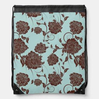 Floral Pattern 9 Drawstring Bag