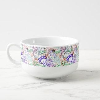 Floral Pattern 9 Soup Mug
