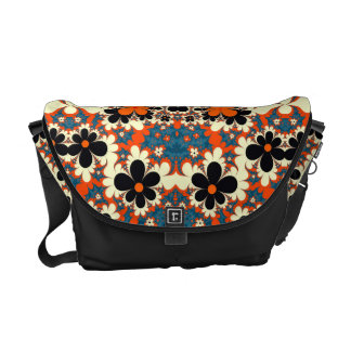 floral pattern abstract design fractal commuter bags