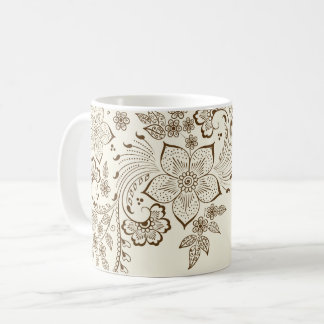 Floral pattern Coffee Cup