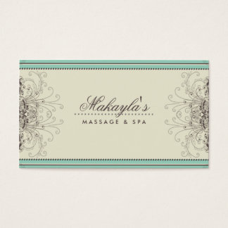 Floral Pattern Damask Elegant Modern Classy Retro Business Card
