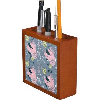 Floral Pattern Desk Organiser