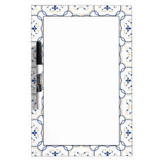 Floral Pattern Dry Erase Board