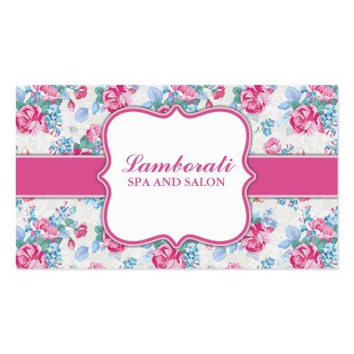 Floral Pattern Elegant Fashion Designer Stylist Business Cards