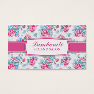 Floral Pattern Elegant Fashion Designer Stylist Business Card