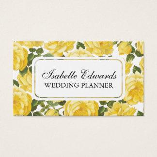 Floral pattern elegant vintage rose business card