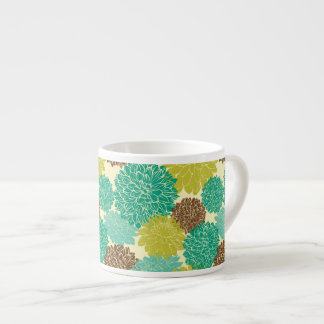 Floral Pattern Espresso Cup