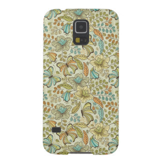 Floral pattern: flowers and butterflies case for galaxy s5