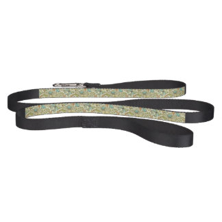 Floral pattern: flowers and butterflies dog lead