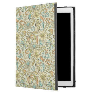 """Floral pattern: flowers and butterflies iPad pro 12.9"""" case"""