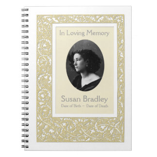 Floral Pattern Funeral Memorial Guest Book