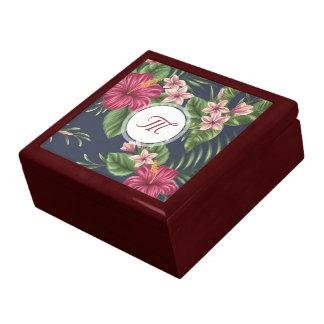 Floral Pattern Hibiscus Monogram Gift Box 1