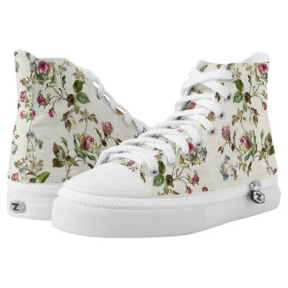 floral pattern high tops