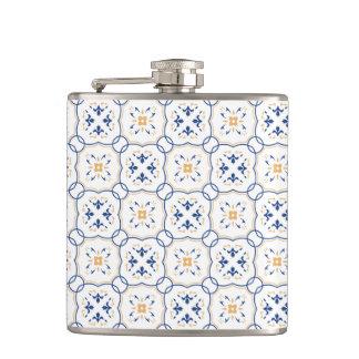 Floral Pattern Hip Flask