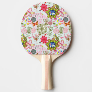 Floral pattern in retro style 2 ping pong paddle