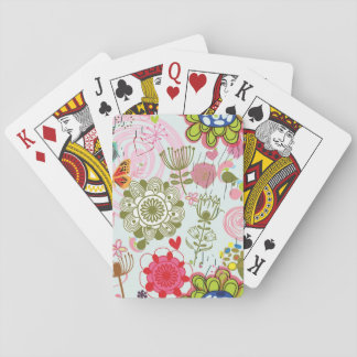 Floral pattern in retro style 2 playing cards