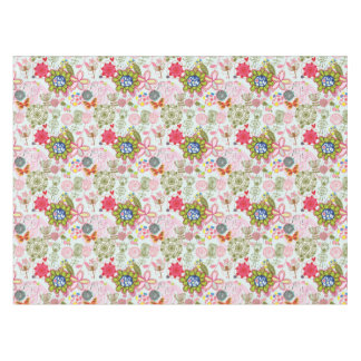 Floral pattern in retro style 2 tablecloth