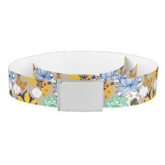 Floral pattern in retro style 3 belt