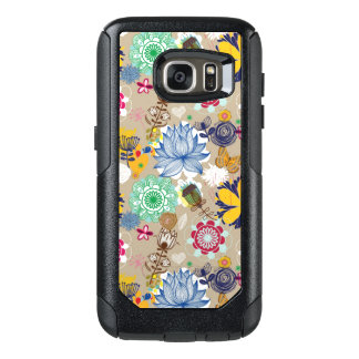 Floral pattern in retro style 3 OtterBox samsung galaxy s7 case