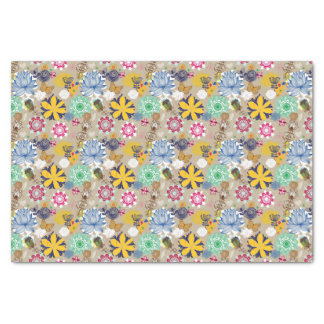 Floral pattern in retro style 3 tissue paper