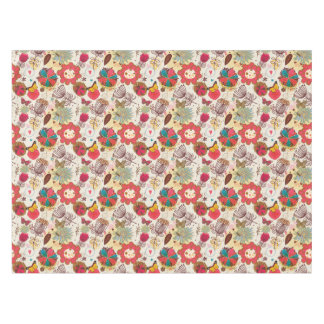 Floral pattern in retro style 4 tablecloth