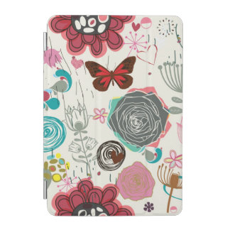 Floral pattern in retro style 5 iPad mini cover