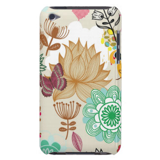 Floral pattern in retro style barely there iPod covers