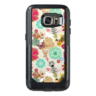 Floral pattern in retro style OtterBox samsung galaxy s7 case