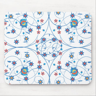 Floral pattern in turkish style mouse mat