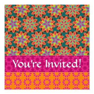 Floral Pattern Invitation