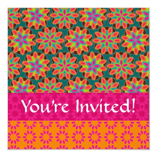 Floral Pattern Invitation