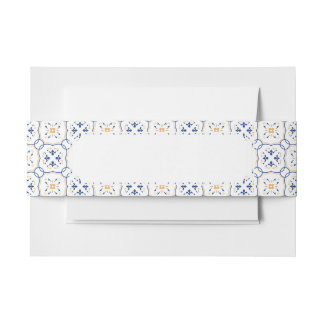Floral Pattern Invitation Belly Band