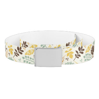 Floral pattern: leaves, flowers and butterfly belt