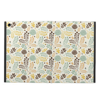 Floral pattern: leaves, flowers and butterfly iPad air cover