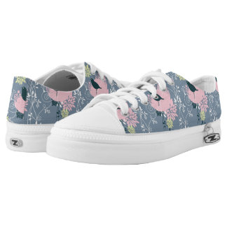 Floral Pattern Low Tops