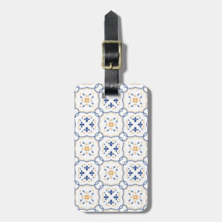 Floral Pattern Luggage Tag