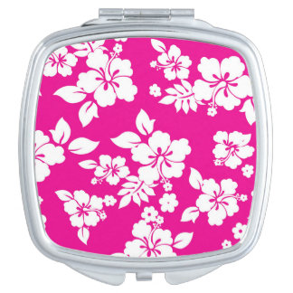 Floral Pattern Mirror For Makeup