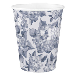 Floral Pattern. Paper Cup