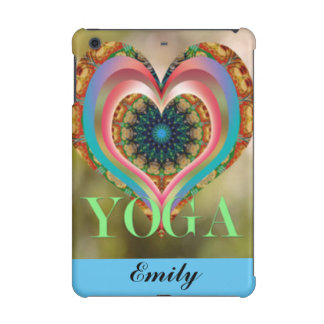 Floral Pattern Print Yoga Heart Typography