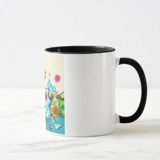 Floral pattern shells mug