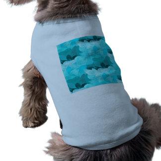 Floral pattern sleeveless dog shirt