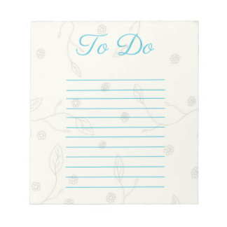 Floral Pattern To Do Notepad